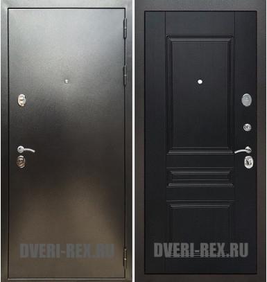 Стальная дверь Рекс 5А Антик серебро / ФЛ-243 (Венге)