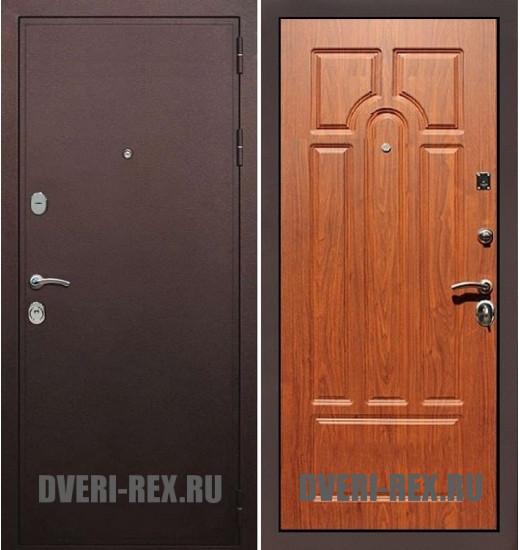 Стальная дверь Рекс 5А Антик медный / ФЛ-58 (Орех)