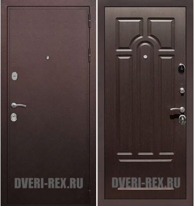 Стальная дверь Рекс 5А Антик медный / ФЛ-58 (Венге)