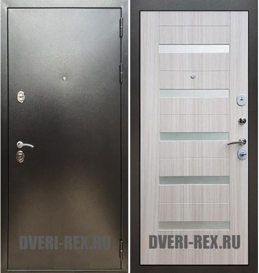 Стальная дверь Рекс 5А Антик серебро / СБ-14 (Сандал белый)