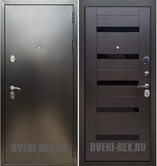 Стальная дверь Рекс 5А Антик серебро / СБ-14 (Венге)