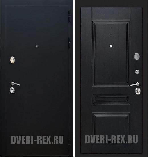 Стальная дверь Рекс 5А Черный муар / ФЛ-243 (Венге)