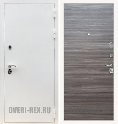Стальная дверь Рекс 5А Белая шагрень / (Сандал серый)
