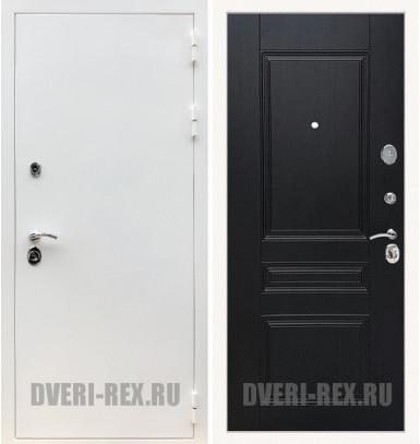 Стальная дверь Рекс 5А Белая шагрень / ФЛ-243 (Венге)