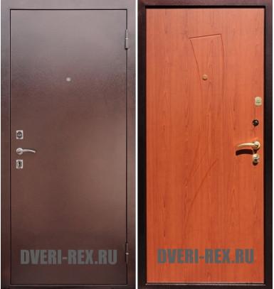 Стальная дверь Рекс 1 Антик медь / Парус (Клён красный)