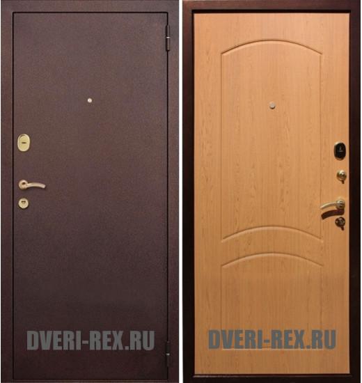 Стальная дверь Рекс 1А Антик медь / ФЛ-100 (Дуб натуральный)