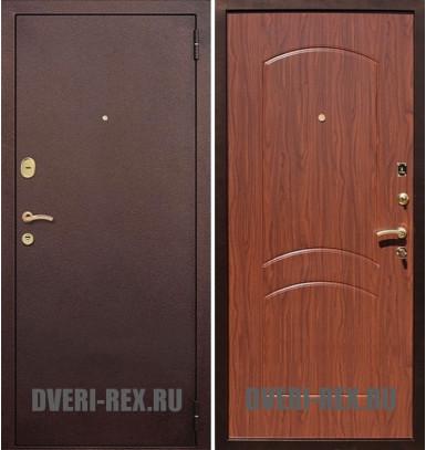 Стальная дверь Рекс 1А Антик медь / ФЛ-100 (Орех)