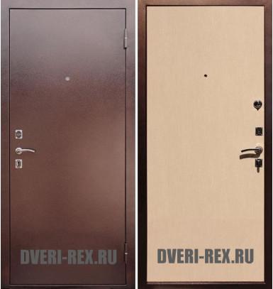Стальная дверь Рекс Эконом (Беленый дуб)