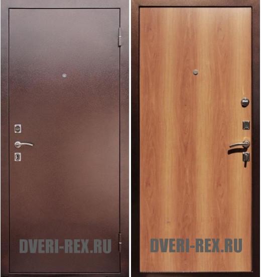 Стальная дверь Рекс Эконом (Миланский орех)