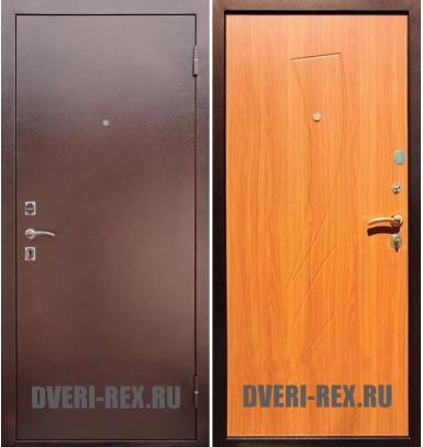 Стальная дверь Рекс 1 Антик медь / Парус (Клён медовый)
