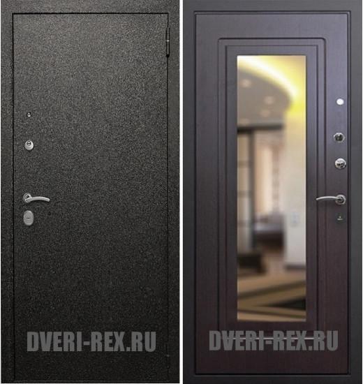 Стальная дверь Рекс Верона / ФЛЗ-158 с зеркалом (Венге)