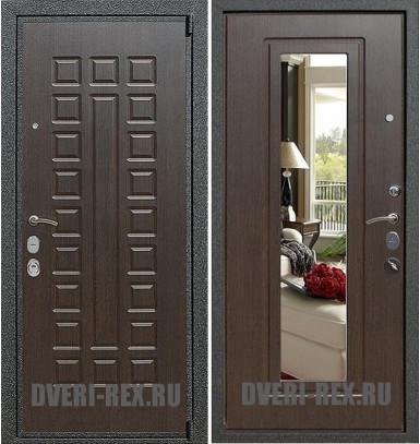 Стальная дверь Рекс 4А Mottura / ФЛ-158 с зеркалом (Венге)