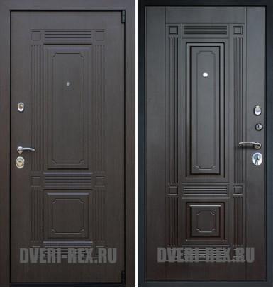 Стальная дверь Рекс 9 Викинг ФЛ-2 (Венге)
