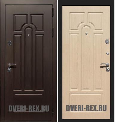 Стальная дверь Рекс Эврика ФЛ-58 (Беленый дуб)