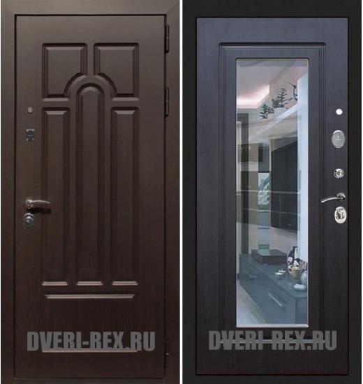 Стальная дверь Рекс Эврика ФЛЗ-158 с зеркалом (Венге)