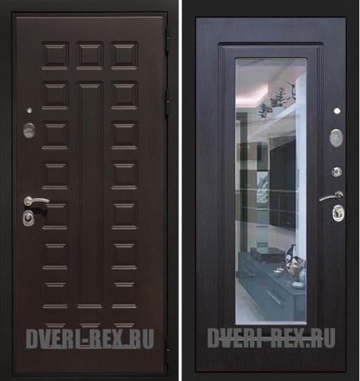 Стальная дверь Рекс Премиум 3К ФЛЗ-158 с зеркалом (Венге)