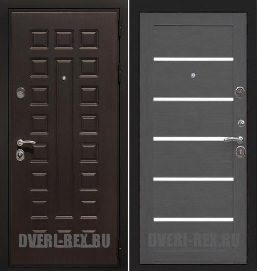 Стальная дверь Рекс Премиум 3К СБ-14 (Лиственница серая)