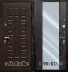 Стальная дверь Рекс Премиум 3К СБ-16 с зеркалом (Венге)