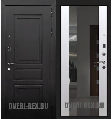 Стальная дверь Рекс 6 Лондон / СБ-16 (Белый ясень)