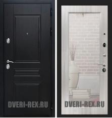 Стальная дверь Рекс Премиум H / Пастораль с зеркалом (Сандал белый)