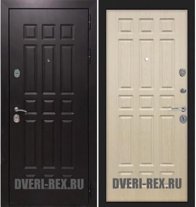Стальная дверь Рекс Сенатор 2К ФЛ-33 (Беленый дуб)
