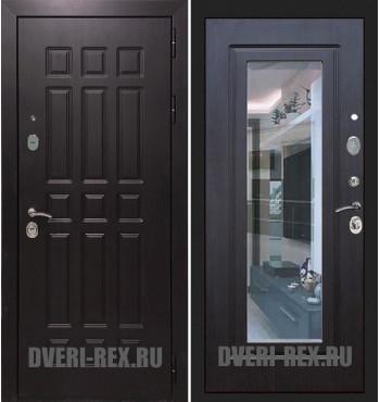 Стальная дверь Рекс Сенатор 3К ФЛЗ-158 с зеркалом (Венге)