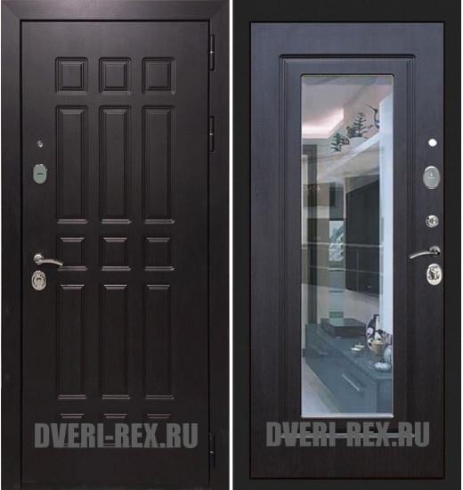 Стальная дверь Рекс Сенатор 2К ФЛЗ-158 с зеркалом (Венге)