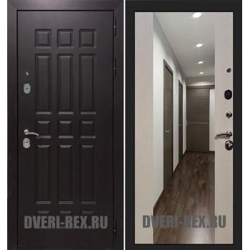 Стальная дверь Рекс Сенатор 3К СБ-16 с зеркалом (Лиственница беж)