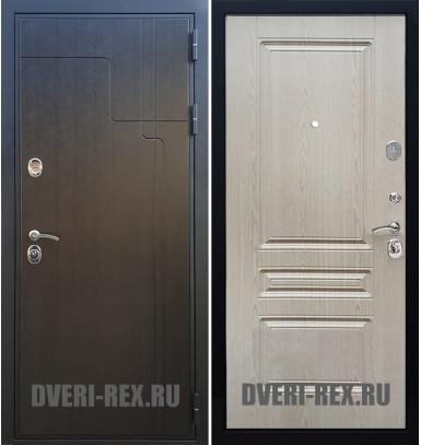 Стальная дверь Рекс Премиум 246 / ФЛ-243 (Беленый дуб)