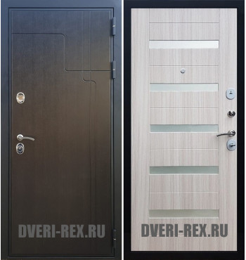 Стальная дверь Рекс Премиум 246 / СБ-14 (Сандал белый)