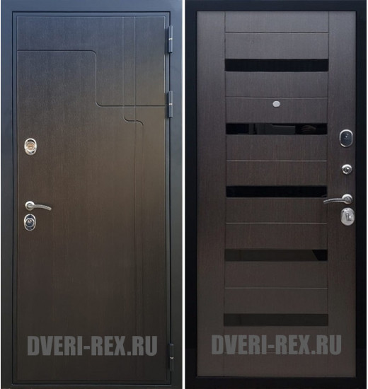 Стальная дверь Рекс Премиум 246 / СБ-14 (Венге)