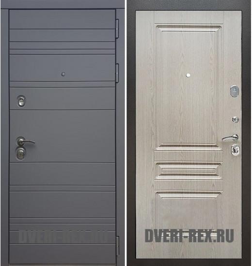 Стальная дверь Рекс 14 / ФЛ-243 (Беленый дуб)