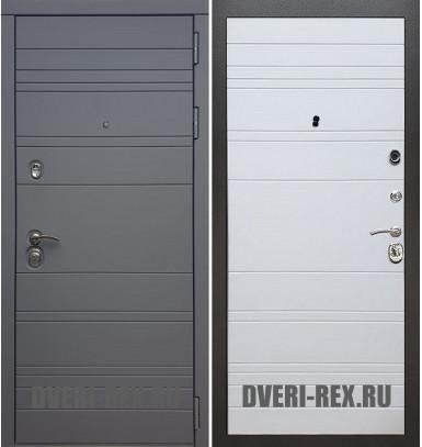 Стальная дверь Рекс 14 / ФЛ-316 (Белый софт)