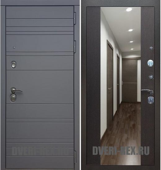 Стальная дверь Рекс 14 / СБ-16 с зеркалом (Венге)