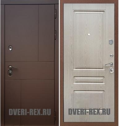 Стальная дверь Рекс Урбан / ФЛ-243 (Беленый дуб)