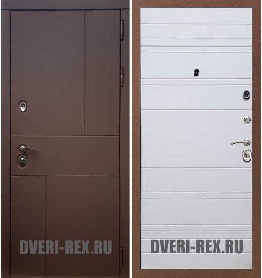 Стальная дверь Рекс Урбан / ФЛ-316 (Белый софт)