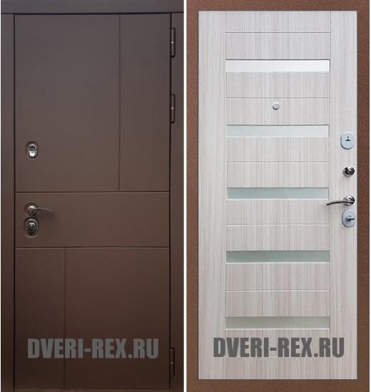 Стальная дверь Рекс Урбан / СБ-14 (Сандал белый)