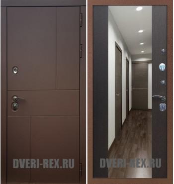 Стальная дверь Рекс Урбан / СБ-16 с зеркалом (Венге)