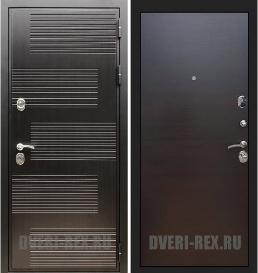 Стальная дверь Рекс Премиум 185 / (Венге поперечный)