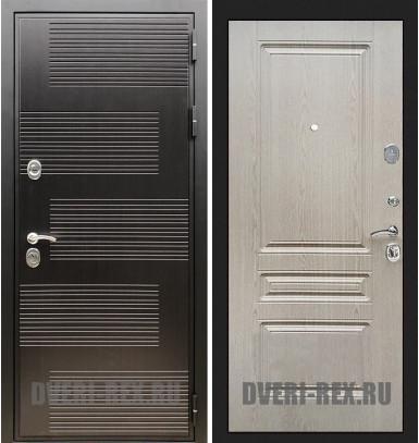 Стальная дверь Рекс Премиум 185 / ФЛ-243 (Беленый дуб)