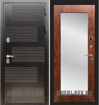 Стальная дверь Рекс Премиум 185 / Пастораль с зеркалом (Береза мореная)
