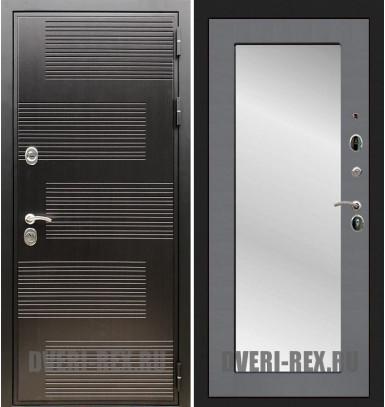 Стальная дверь Рекс Премиум 185 / Пастораль с зеркалом (Графит софт)