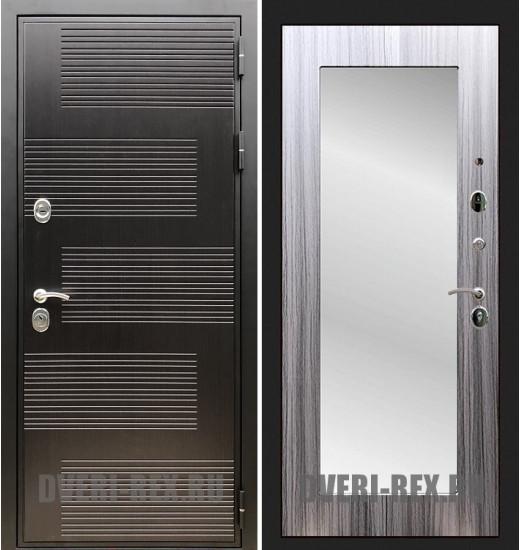 Стальная дверь Рекс Премиум 185 / Пастораль с зеркалом (Сандал серый)