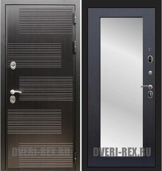 Стальная дверь Рекс Премиум 185 / Пастораль с зеркалом (Венге)