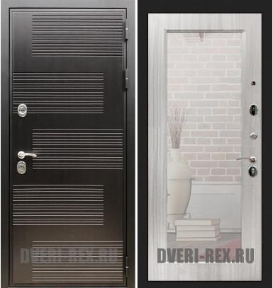 Стальная дверь Рекс Премиум 185 / Пастораль с зеркалом (Сандал белый)