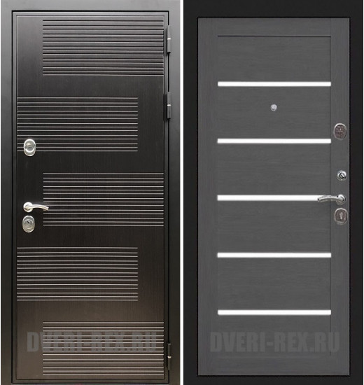 Стальная дверь Рекс Премиум 185 / СБ-14 (Лиственница серая)