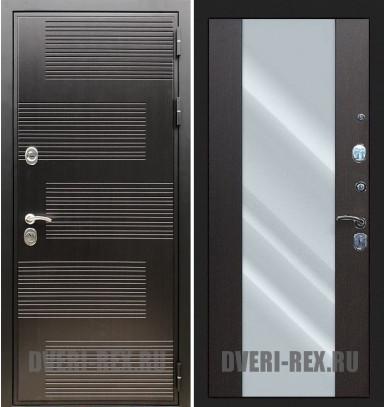 Стальная дверь Рекс Премиум 185 / СБ-16 с зеркалом (Венге)
