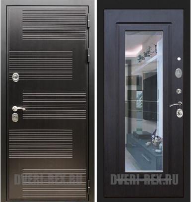 Стальная дверь Рекс Премиум 185 / ФЛЗ-158 с зеркалом (Венге)