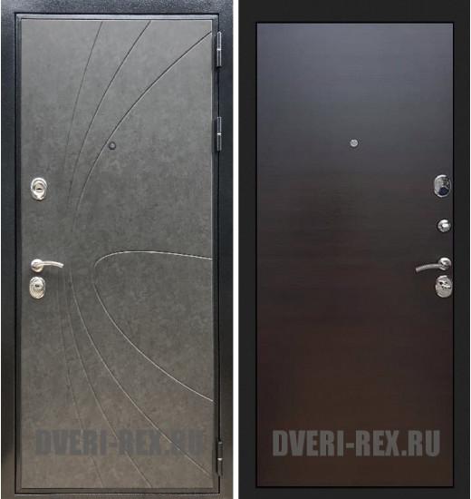 Стальная дверь Рекс Премиум 248 / (Венге поперечный)