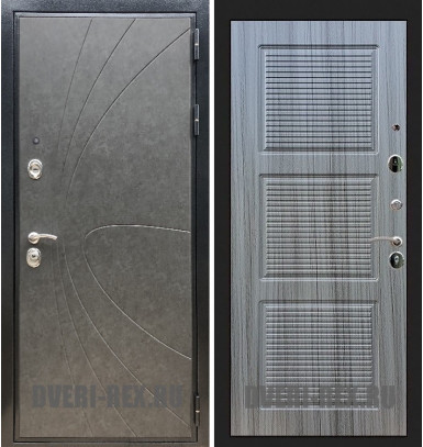 Стальная дверь Рекс Премиум 248 / ФЛ-1 (Сандал серый)